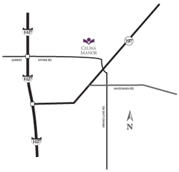 Celina Manor-map, maps & directions, HCF Inc